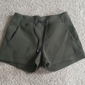 EUC lululemon olive green shorts size 10